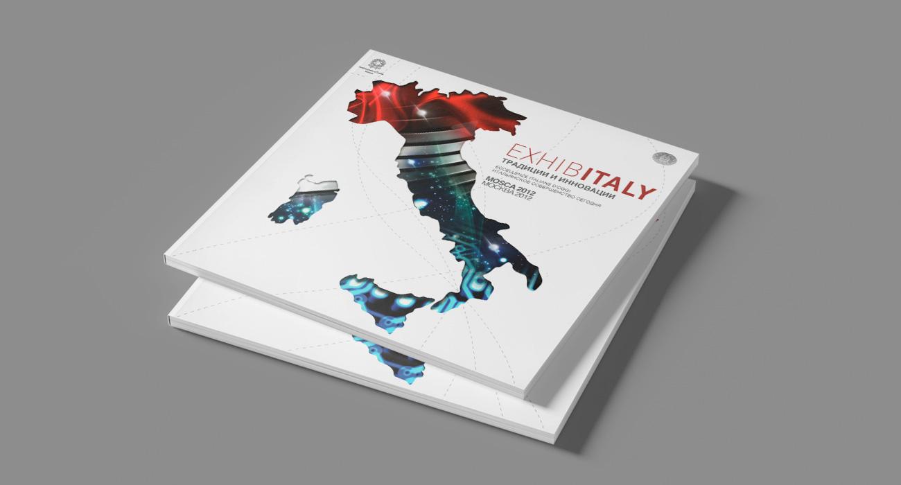 Copertina del catalogo della serie di eventi dedicati al Made in Italy denominato Exhibitaly