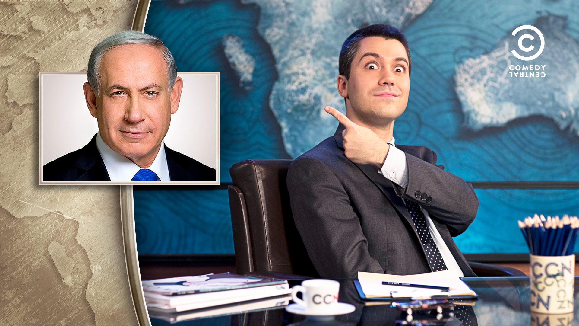 Contributo grafico del programma televisivo CCN Comedy Central News di Saverio Raimondo