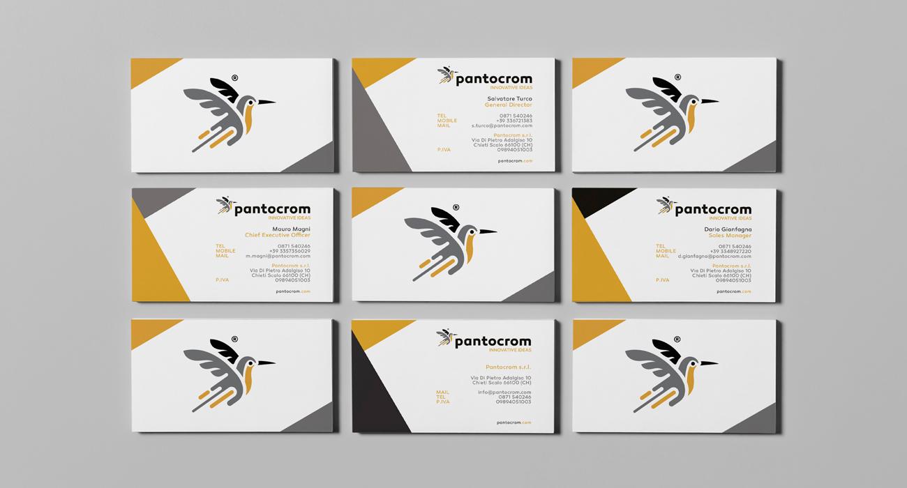 Biglietti da visita generici con dati di legge e personalizzati della Pantocrom