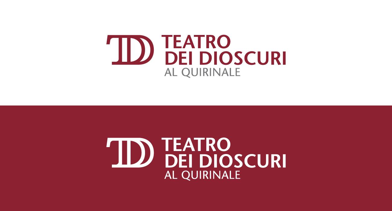 Logo del Teatro dei Dioscuri al Quirinale, spazio espositivo gestito da Luce Cinecittà