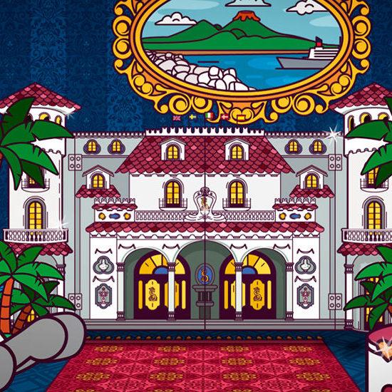 Particolare della sigla animata della trasmissione Il Castello delle Cerimonie, uno dei lavori del portfolio dello studio grafico Studio Polpo