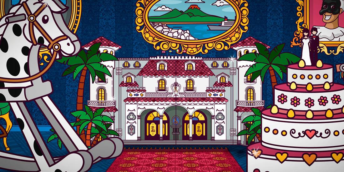 Particolare della sigla animata della trasmissione Il Castello delle Cerimonie, ideata e realizzata dallo studio grafico Studio Polpo