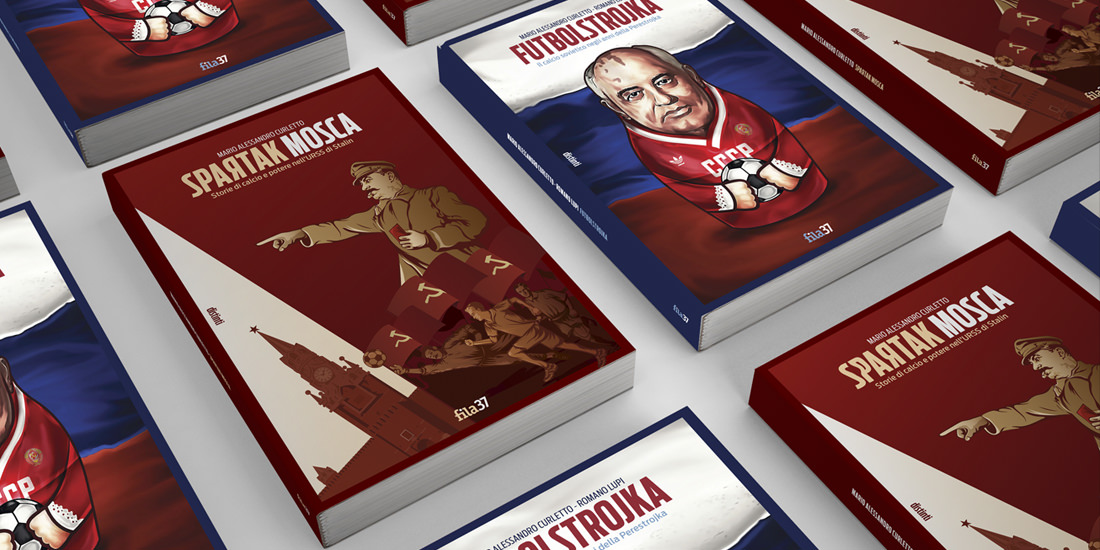 I libri della collana distinti della Fila 37, progettata e curata dallo studio grafico Studio Polpo